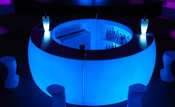 Illuminated Ice Round Bar Unit