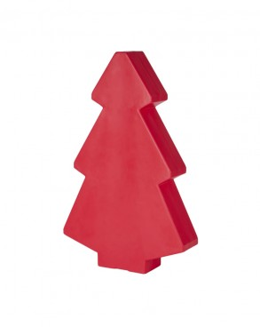Illuminated Red Christmas Tree 1m