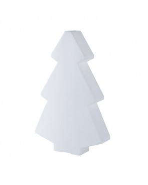 Illuminated White Christmas Tree 1m