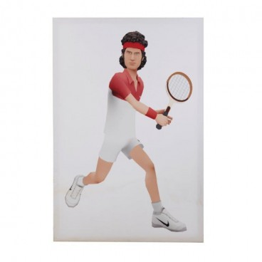 John McEnroe Caricature on Canvas