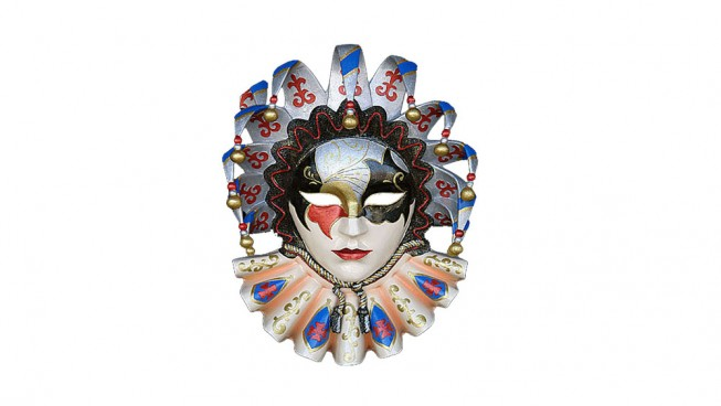 Jolly Brocade Carnival Mask 700mm