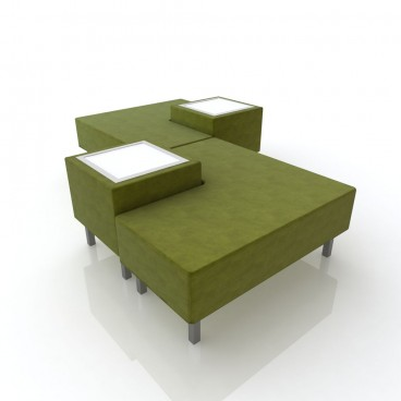 Lime Green Soho Combo 2 Sofa