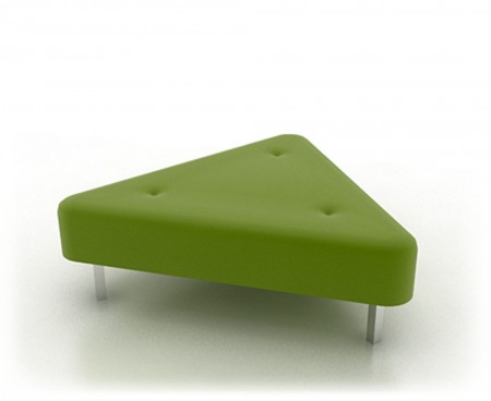 Lime Green Triangle Ottoman