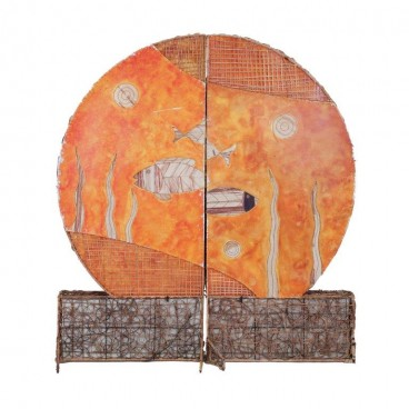 Orange Wall Panel (oval top)