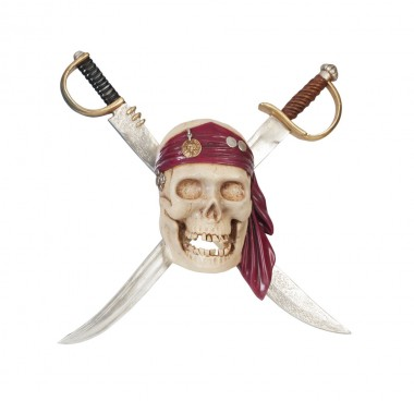 Pirate Skull Sign with Swords