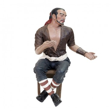 Pirate (on stool) Life Size