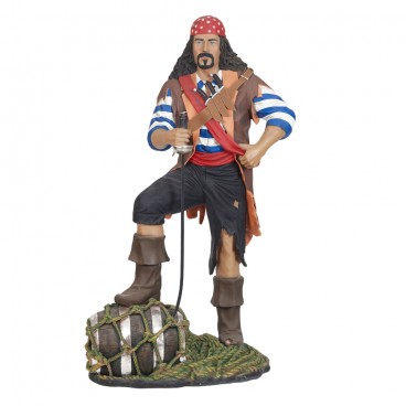 Pirate stood on Barrel Life Size