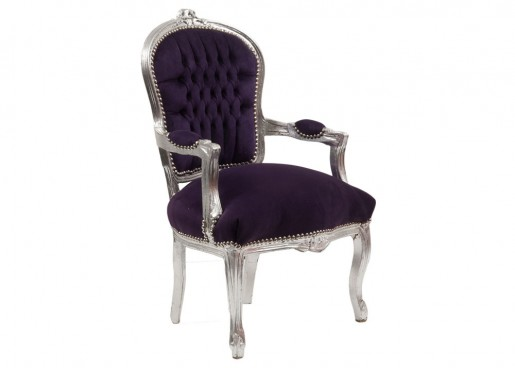 Purple Baroque Chair