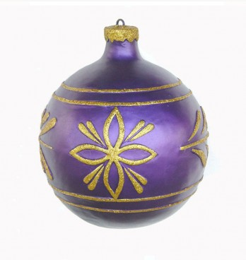 Giant Purple & Gold Christmas Bauble 610mm