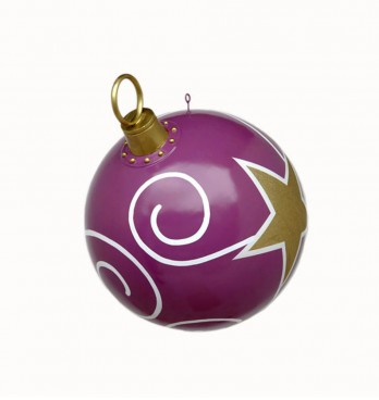 Giant Purple Gold & White Christmas Bauble 790mm