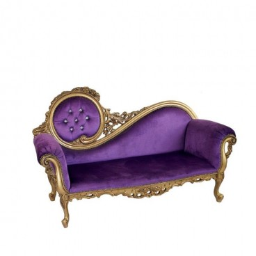 Purple Ornate Lounge with Gold Leaf Trim