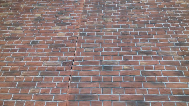 Red Brick Wall Backdrop 3m x 1m