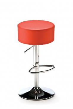 Red Button Bar Stool