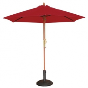 Red Parasol with Base