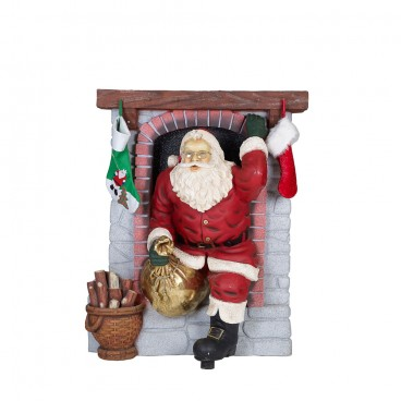 Santa coming out of Fireplace 1.5m