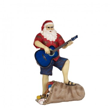 Santa in Shorts with Guitar 1.8m