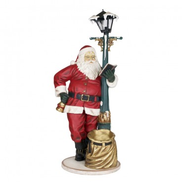 Santa with Lamp Post