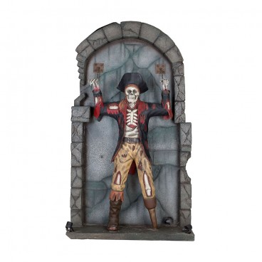 Skeleton Pirate (on wall) Life Size