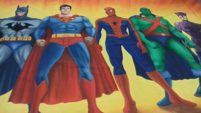 Superheroes Backdrop