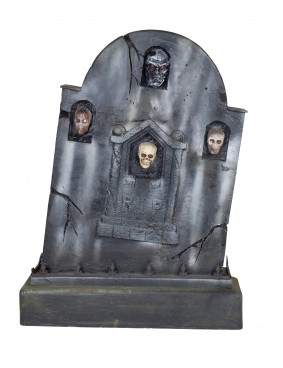 Tombstone with Four Skulls