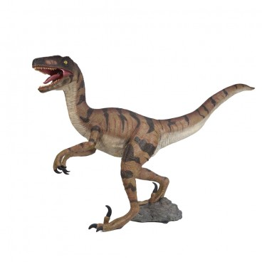 Brown Velociraptor 1.6m