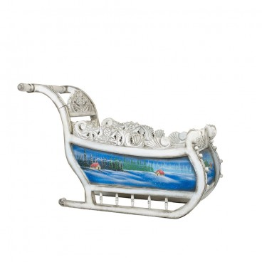 White & Blue Sleigh 900mm