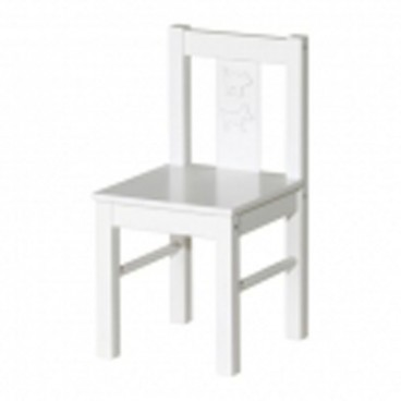 Children's White Wooden Chair