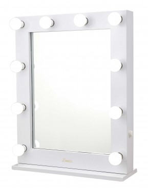 White Dressing Room Bulb Mirror