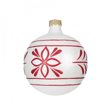 Giant White & Red Christmas Bauble 610mm