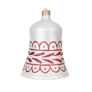 White & Red Christmas Bell