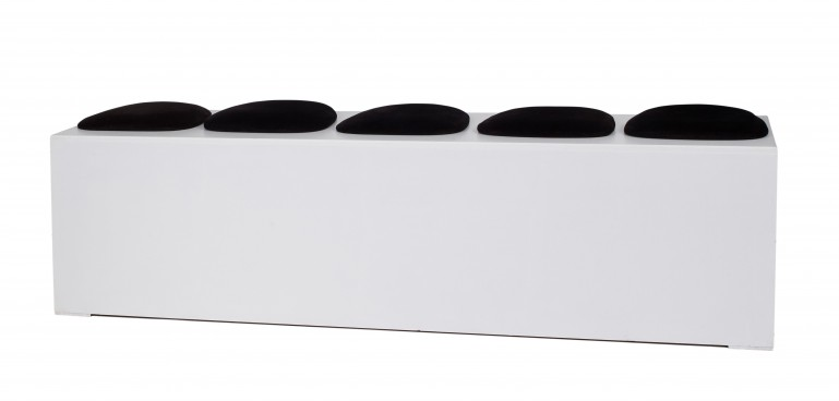 White Smartie Bench with Coloured Seats