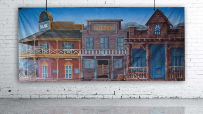 Wild West Facade Backdrop