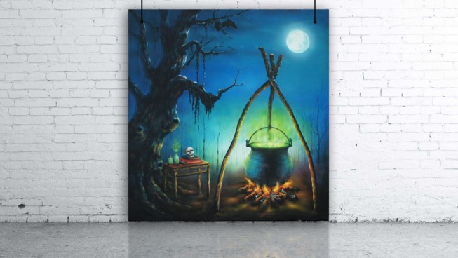 Witches Cauldron Backdrop