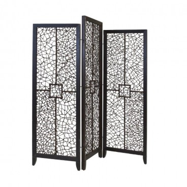 Wooden Folding Screen, 3 Part