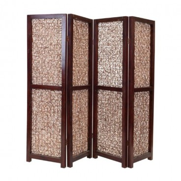 Wooden Folding Screen, 4 Part