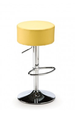 Yellow Button Bar Stool