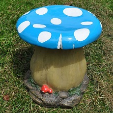 Blue Toadstool Stool