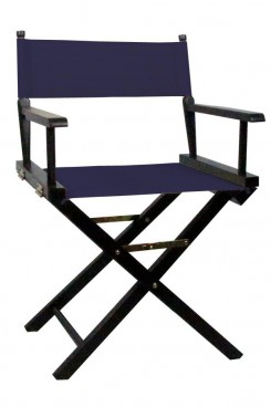 Directors Chair with Blue Canvas