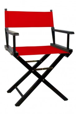 Directors Chair with Red Canvas
