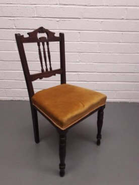 Edwardian Side Chair Gold Seat