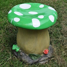 Green Toadstool Stool