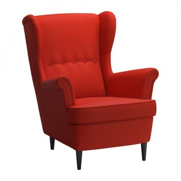 Red Wingback Armchair