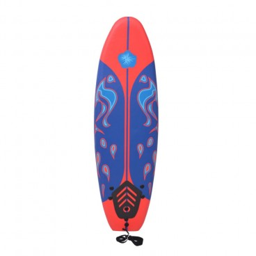 Surfboard Blue and Red 1.7m