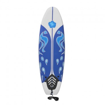 Surfboard Blue and White 1.7m