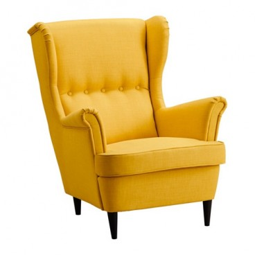 Yellow Wingback Armchair