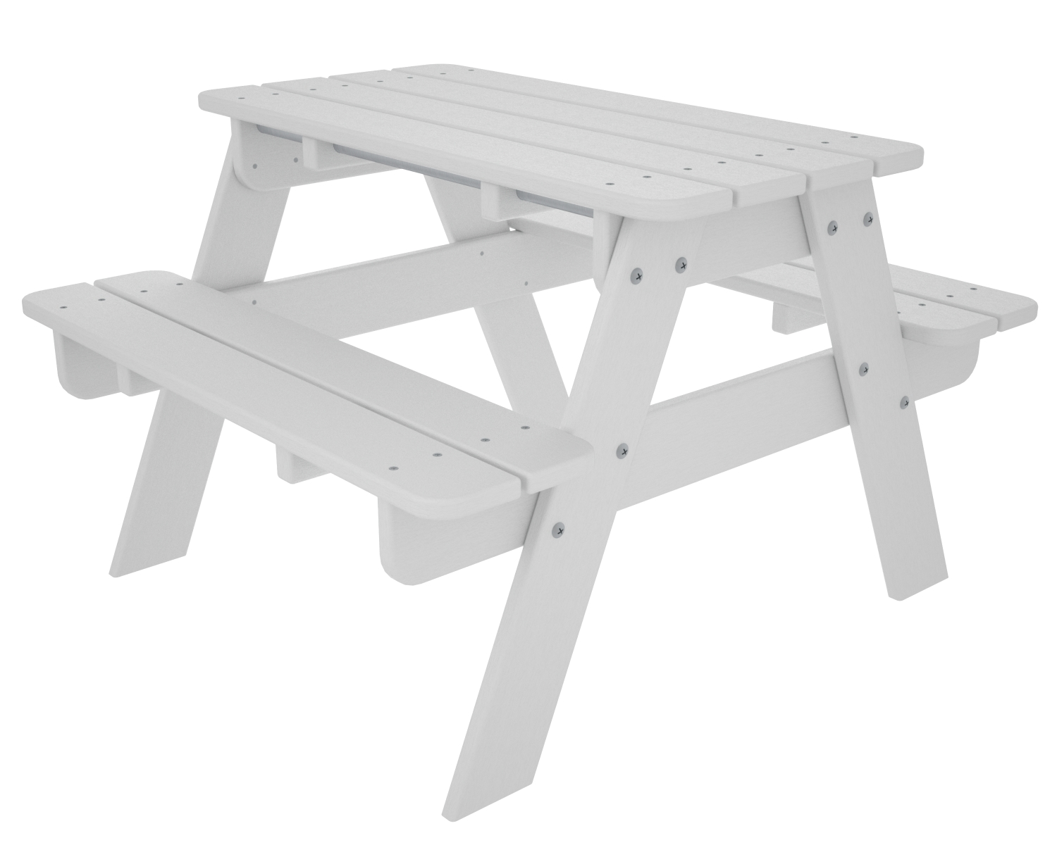 Children's White Picnic Bench