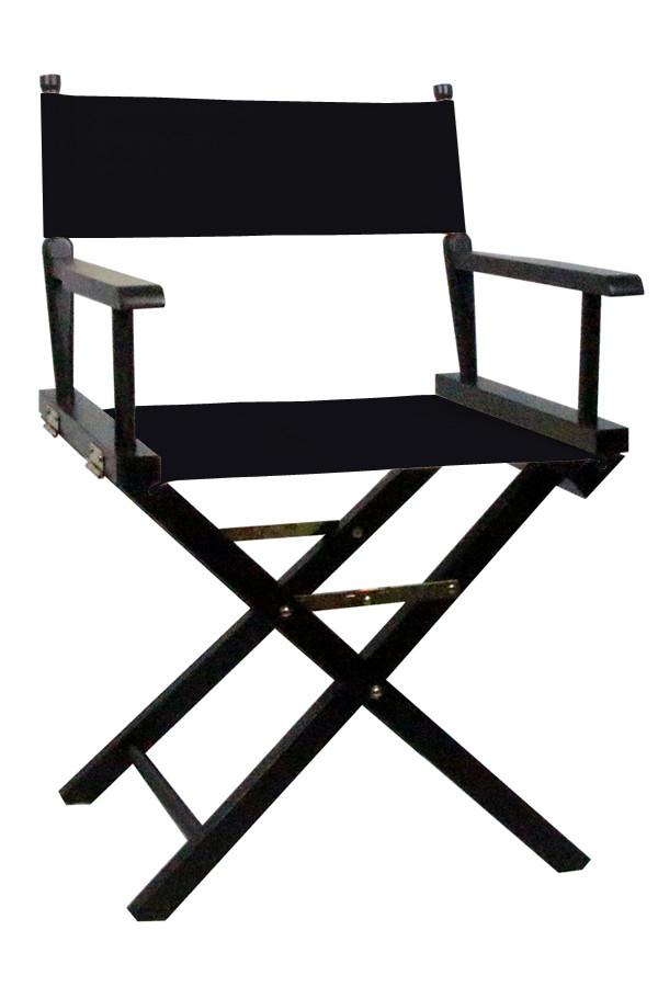 Directors Chair with Black Canvas