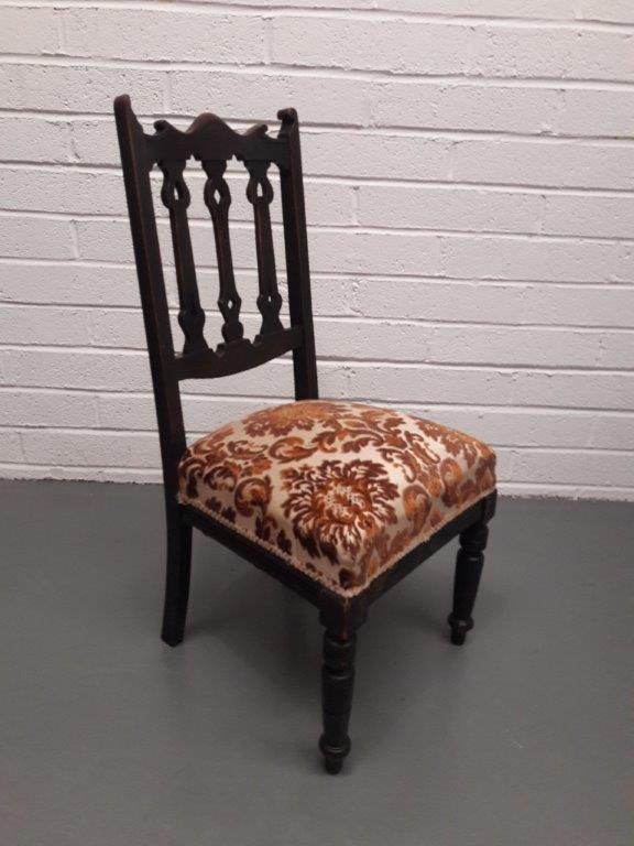 Edwardian Side Chair Tapestry Seat