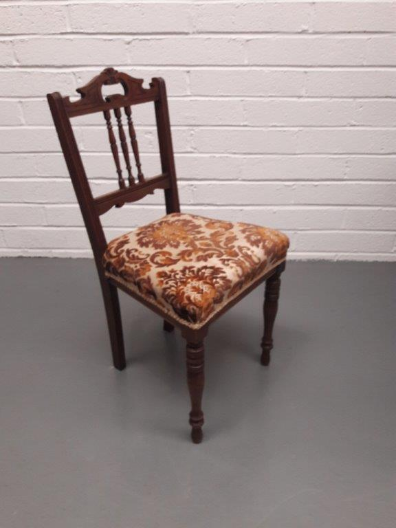 Edwardian Side Chair with Tapestry Seat