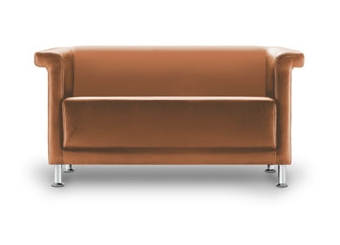 Tan Seattle Two Seater Sofa